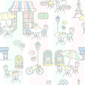 Paris Pastel Cafe