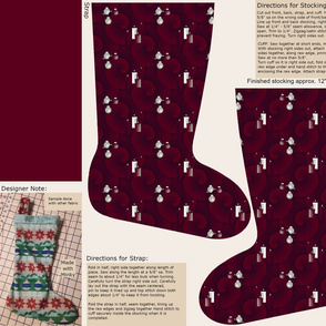 Cut & Sew Christmas Candlelight Stocking by Shari Lynn's Stitches