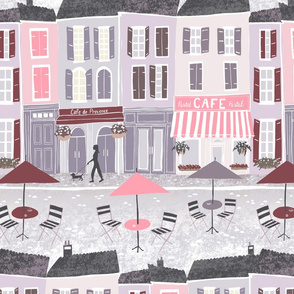 Pastel Cafe's in Provence