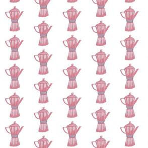 pink percolator coffee pot