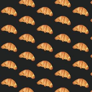 croissant on black