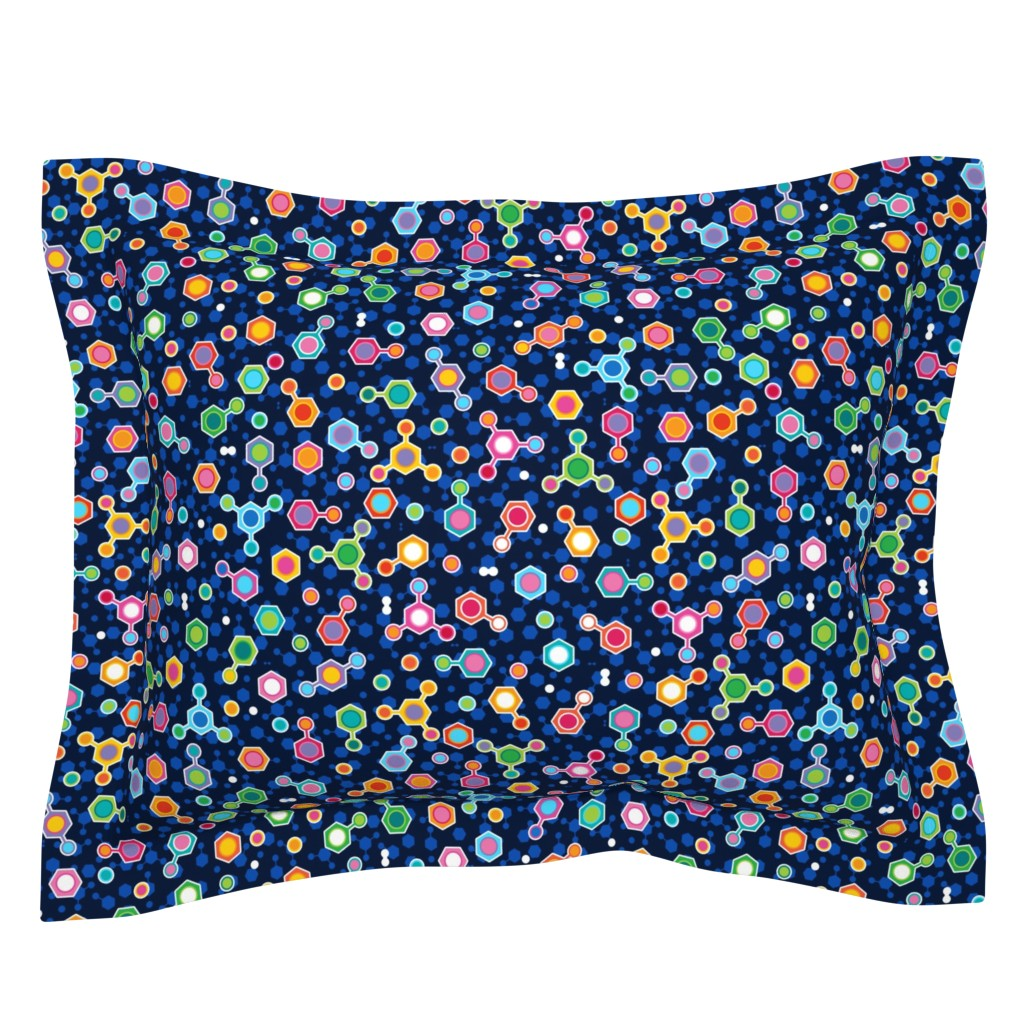 Sebright Pillow Sham featuring Hydrocarbon in Space by spellstone