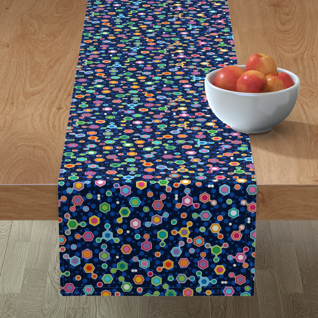 Minorca Table Runner featuring Hydrocarbon in Space by spellstone