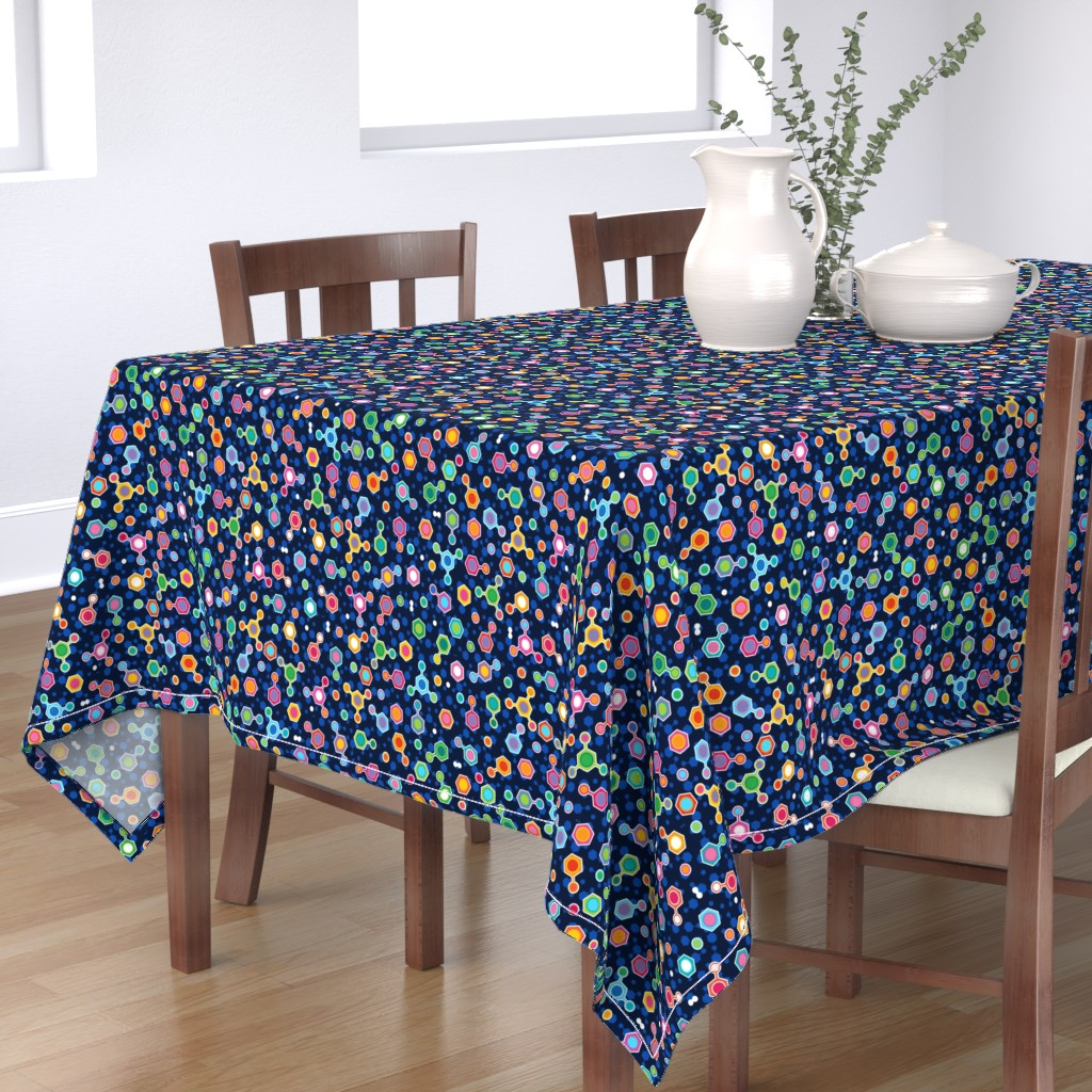 Bantam Rectangular Tablecloth featuring Hydrocarbon in Space by spellstone
