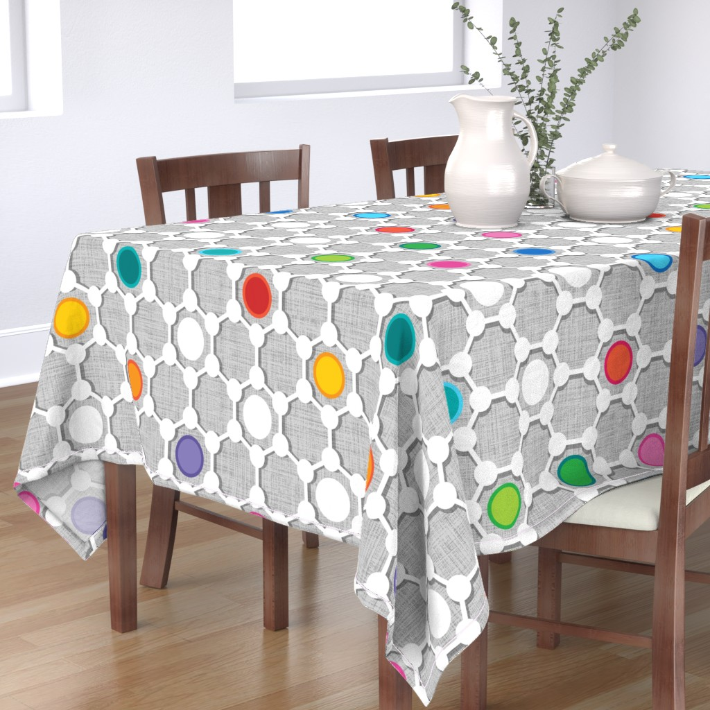 Bantam Rectangular Tablecloth featuring Graphene Urban large scale by spellstone