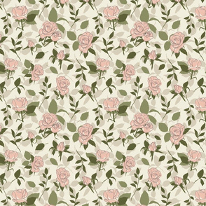Romantic Roses - Soft Earthy Colors