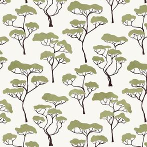Green Savanna Trees