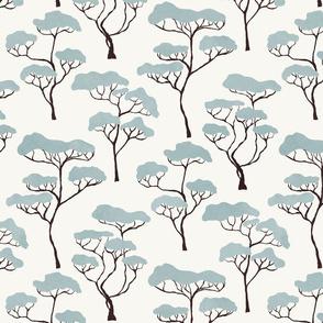 Blue Savanna Trees