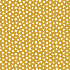 Dots - White, Caramel - Small