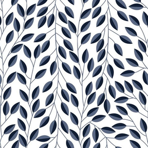 Two toned blue leaves // Lines of leaves // Ivy