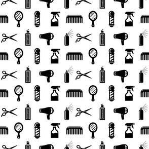 Salon & Barber Hairdresser Pattern V2 (Small Scale)
