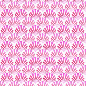 seashells tie dye red and pink