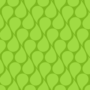 Green paisley drops on green background