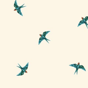 Swift Swallow Scattered Natural Cream