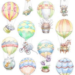 Animal Air Balloons on white