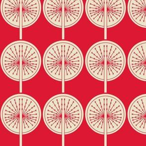 Dandelion on red