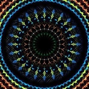 Boho tribal radial Mandala art