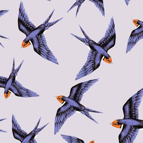 Swooping Swallow in Lavender Haze // large