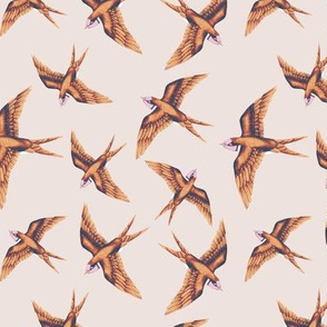 Swooping Swallows Copper Vanilla // standard