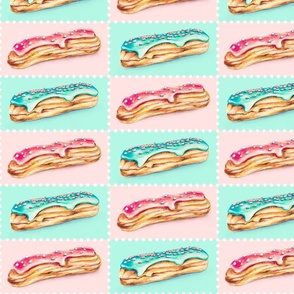 Cute Mint & Pink Eclairs
