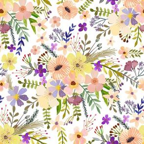 """16"""" Spring garden - White"""