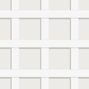 Trelliage CREAMY WHITE LARGER SQUARE TRELLIS