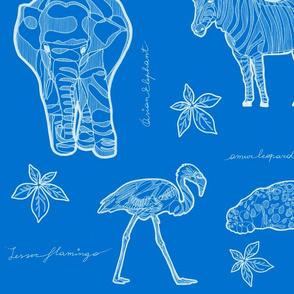 Safari LOVE & LIVE_White on Blue