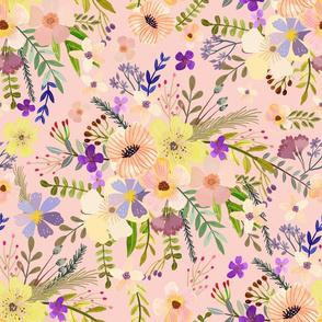 """16"""" Spring Garden - Dusty pink"""
