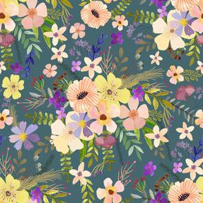 """32"""" Spring Garden - Dusty pink"""