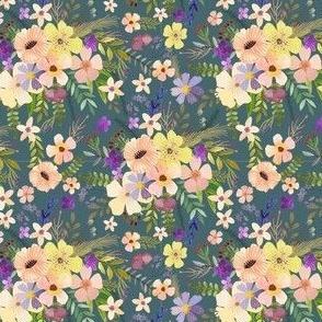 """4"""" Spring Garden - Teal"""