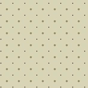 Cafe au Lait and Gunpowder Dots on Cream