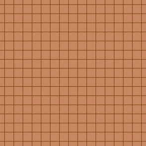 pastel grid brown