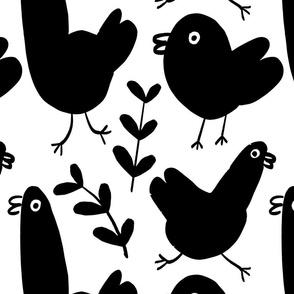 LARGE SCALE Simple Black Birdies