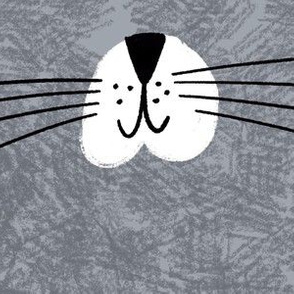 "Cat Face Mask Fabric 10""x6"" rectangles"