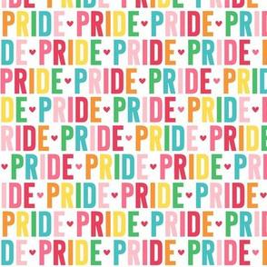 pride rainbow UPPERcase