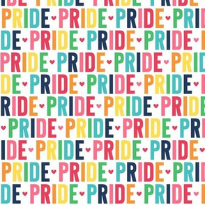 pride rainbow with navy UPPERcase