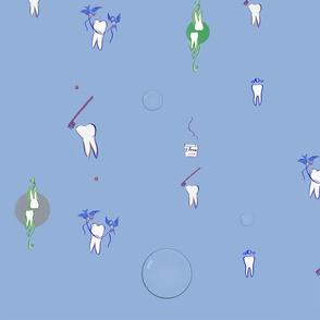 Dr. Kleier blue Reflective Bubbles Archive Wallpaper