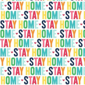 stay home rainbow with navy UPPERcase