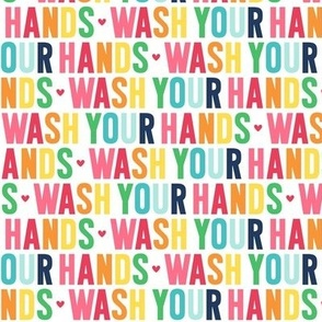 wash your hands rainbow with navy UPPERcase
