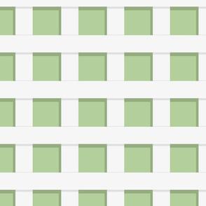 Trelliage REVERSE SOFT GREEN SMALLER SQUARE TRELLIS