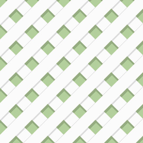 Trelliage SOFT GREEN DIAGONAL TRELLIS copy