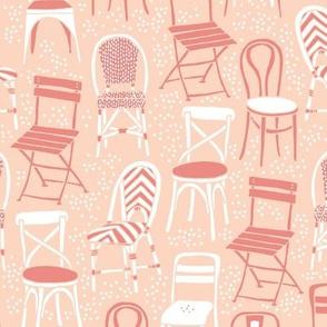Cafe Chairs - bubblegum