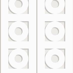 Trelliage CREAMY WHITE CIRCLE TRIM