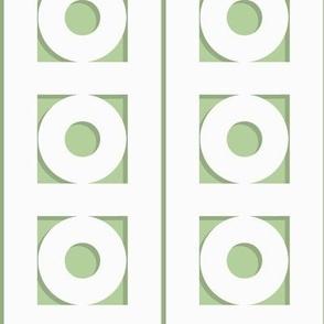 Trelliage REVERSE SOFT GREEN CIRCLE TRIM