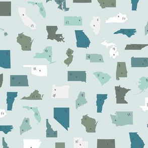 Scrambled United States Blue & Green