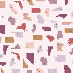 Scrambled United States Pink