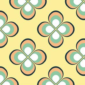 50s-60s Floral tile
