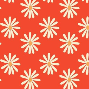 Coral and Mustard Retro 1970s pattern