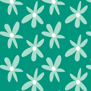 Mint and kelly green retro florals