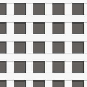 Trelliage REVERSE SOFT BLACK SMALLER SQUARE TRELLIS